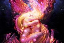 """Twin Flames / """"I seem to have loved you in numberless forms, numberless times, in life after life, in age after age forever.  ~ Tagore"""