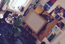 Inside the studio / A glimpse to whats in the studio at moments in time