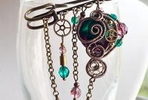 Brooch-scarf pin-hair fork pin