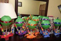 Flynn six birthday ninja turtle birthday party ideas / Ideas for party