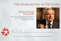 The Humanities Interviews / In this series, accomplished scholars reflect on the vitality of the humanities and on what led them to their particular field of research and teaching. This interview was recorded at the 2014 annual meeting of the American Council of Learned Societies.  / by American Council of Learned Societies