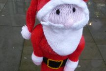 Christmas yarn bomb / A group of ladies now Yarn bomb Haverfordwest on a regular basis, just to cheer people up x