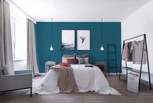 Inspirujące pomysły na własne M z dużą sypialnią / Własne M z dużą sypialnią - to jest to! Spójrzcie na kilka kolorystycznych inspiracji od architekta i dajcie znać, w jakich kolorach urządzilibyście swoją sypialnię?