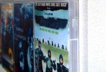 Schmucke Wanddekoration aus deinen DVDs / Multimediales Wand-Design in deinem  Heimkino. Unsichtbares Design DVD Wandregal  cds aufbewahren
