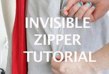 cucire la zip invisibile