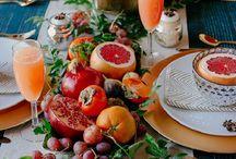 decoración frutas verduras
