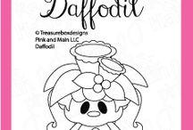 Daffodil / Clear stamp from pinkandmain.com