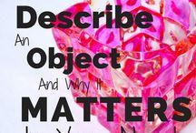 Ser escritor | Descrição de cenários e objectos