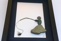 fishing stone art