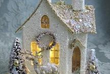 Casas  navideñas miniaturas