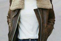 leather pilot jacket