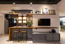 mueble TV isla cocina