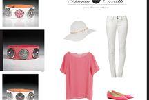 Elegancko, stylowo, różowo! / Pudrowy róż to hit sezonu, ale intensywniejsze odcienie też wyglądają pięknie w odpowiednich proporcjach :) Przełam ten kolor bielą i zwieńcz stylizację elegancką biżuterią Bianca Cavatti aby nawet w cukierkowych barwach wyglądać szykownie!