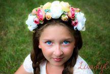 Kvetinové čelenky, party pre nevesty