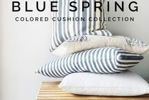 BLUE SPRING / Are you ready for some color? If you are used to neutral tones in your home and wants to add some color without it looking too much we recommend you to take a look at the new blue cushion collection. The blue tones can be your first step towards including more color in your home for a more personal wibe and feel. We love to mix patterns with different types of materials in the same color tone.