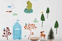 Stickers enfant et bébé / Des bleus, des roses, des gris... des stickers enfant de toutes les tailles et de toutes les formes pour décorer la chambre de votre enfant !