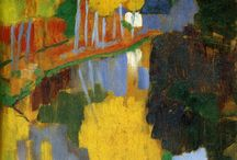 Post-Impressionist / The stylistic variations assembled under the general banner of Post-Impressionism range from the scientifically oriented Neo-Impressionism of Georges Seurat to the lush Symbolism of Paul Gauguin, but all concentrated on the subjective vision of the artist.