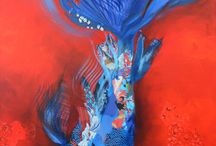 koi fish painting artistic