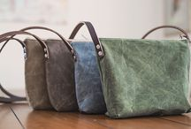 Waxed Canvas Leather Bag