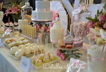 Tables dessert / #Mesas dulces, #Candy Bar, #Tables desserts #events, #weddingplanner #communion