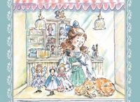 THE CATS IN THE DOLL SHOP / This is a sequel to THE DOLL SHOP DOWNSTAIRS and involves the same three girls, a year later, in 1915.  The war is over now, and they welcome a new cousin from Russia, as well as a three-legged stray cat that they find and name Plucky.