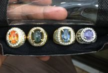 Sapphire and Ruby for sale / Silver ring