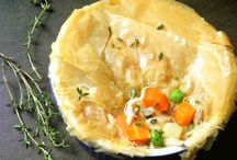 Comfort food meals / Turkey pot pie with phyllo pastry