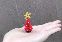 Miniature Christmas tree crochet
