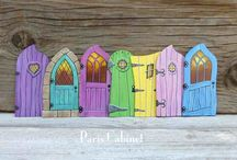 Painting on doors