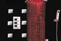 "Big Rainfall 16"" LED Thermostatic Shower Faucet 6 Massage Jets Body Spray Set"