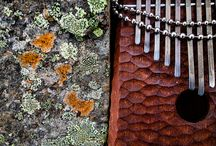 Kalimba trip in Iceland / 13 tone Walnut kalimba with hand carved mechanics and body was on the trip to Iceland.