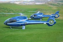 The helicopters and luxurious private helicopters