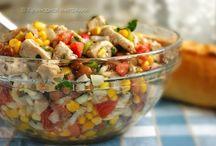 Nápoje a jedlo šalaty