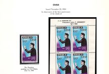 CHAD, CHILE & COLOMBIA Stamps JFK / John F. Kennedy stamps collection of Chad, Chile & Colombia.