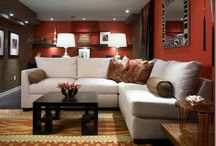 Living room / I love these decors, the materials, the combination of the colors in a living room