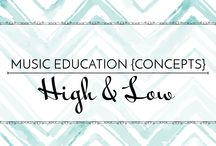 High & Low - Music Education {Concepts} / Activities, resources, and strategies to introduce high and low sounds and prepare so/mi