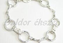 Silver horse bracelet - necklace
