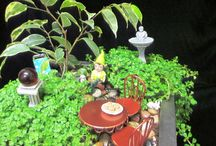 Fairy Gardens Ideas and Accessories / Whether indoors or outdoor gardens, miniatures can add a little whimsy to your setting.