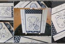 My cards 2012 / Deze kaarten zijn enkele voorbeelden die ik heb gemaakt in 2012.