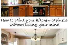 painting kitchen cabinets / by Sandy Haralson
