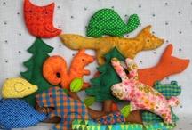 Felt and fabric ornaments / Small felt pieces