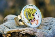 silver and gold micro mosaic jewelry / silver jewellery with micro mosaic themes from Greek history,mythology and religion