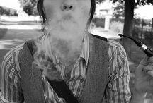 pipe smoking girls