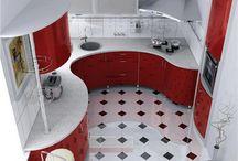 červené kuchyně