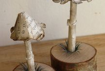 Paper mushrooms / Book pages