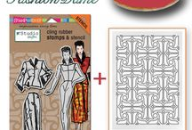 Created with n*Studio Fashion Dame / Projects that were created with my Fashion Stamp Set by people around the world / by Nathalie Kalbach
