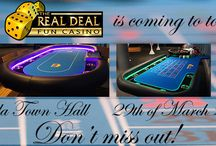 Fun Casino Event open to the public / Don't miss out the opportunity to experience The Real Deal Fun Casino! Check out where we are opening our gaming floor next!