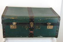 v.i.n.t.a.g.e ♥ s.t.o.r.a.g.e / Repinned vintage trunk, storage, etc. for home decor