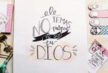 lettering bíblico