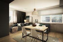 Apartament Wilno / Projekt wnętrza małego apartamentu w Warszawie. Prostota, minimalizm i otwarcie przestrzeni na siebie to główne cechy tego projektu. www.bartekwlodarczyk.com